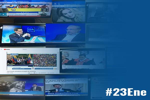 Ausencia informativa opacó labor de medios en jornada del #23Ene