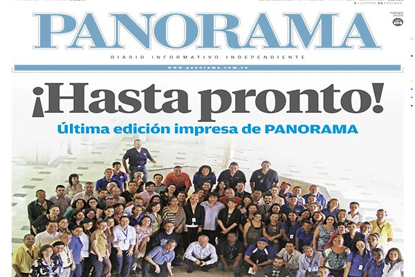 ¡Hasta pronto, diario  PANORAMA!