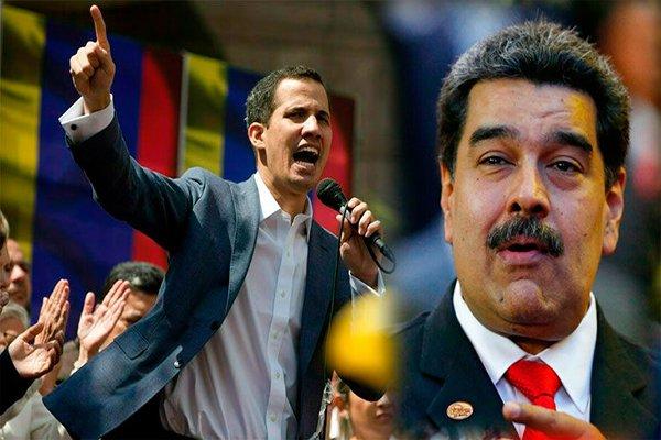 Juan Guaidó y Nicolás Maduro en el periodismo venezolano