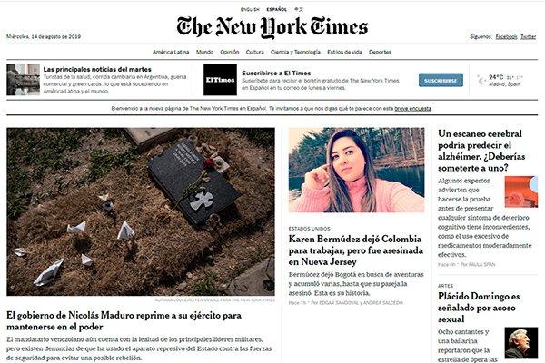 The New York Times, tres lecciones en español