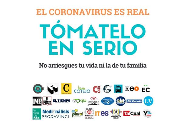 #TómateloEnSerio y #QuédateEnCasa, la campaña de los medios venezolanos